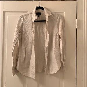 Jcrew, linen blend button down shirt, size 2